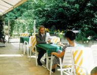 Thermal and spa hotel in Heviz - terrace of Health Spa Resort Heviz