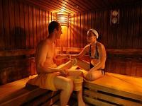 Sauna of Hunguest Hotel Helios for a wellness weekend in Heviz