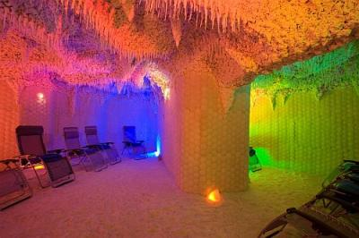 Lotus Therme Hotel and Spa - salt cave covered with Dead Sea salt in Heviz - Lotus Therme Hotel***** Heviz - Luxury thermal hotel Lotus in Heviz at discounted prices